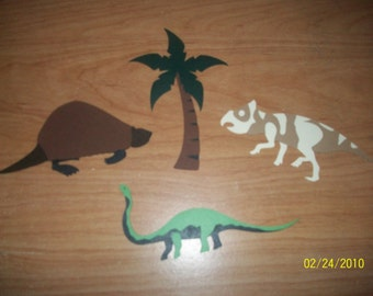 set of 3 dinosaur diecuts-B