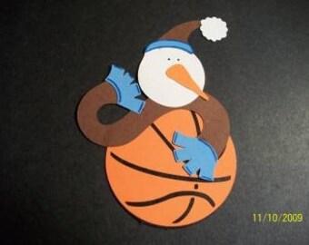Basketball snowman die cut