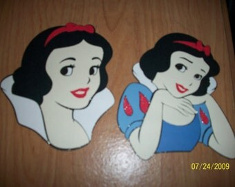 snow white die cuts - set of 2