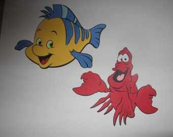 Flounder and Sebastian diecuts- cricut