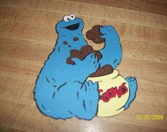 cookie monster with cookie jar diecut