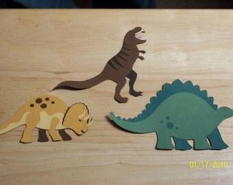 set of 3 dinosaur diecuts-A