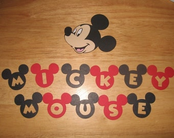 Mickey Mouse title and 3 inch Mickey Head-cricut