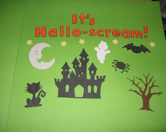 Halloween diecut set- It's Hallo-scream- cricut