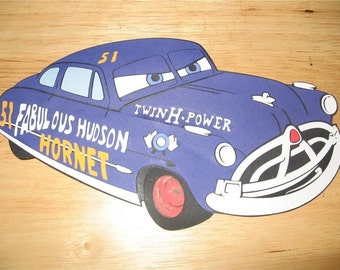 disneys cars doc hudson diecut