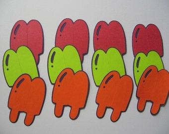 1 dozen popscicle diecuts 2 inches tall-cricut
