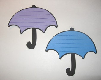 Set of 4 Umbrella Journaling Tags