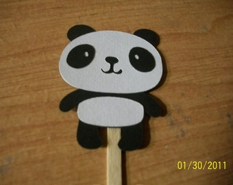 Panda Bear cupcake toppers-set of 18