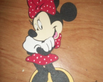 Minnie mouse diecut-looking left- set of 4