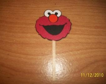 Elmo cupcake toppers -lot of 12-sesame street