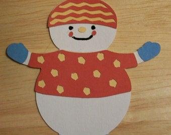 snowman diecut-B