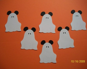Set of 6 Mickey Mouse Ghosts-fully assembled-cricut