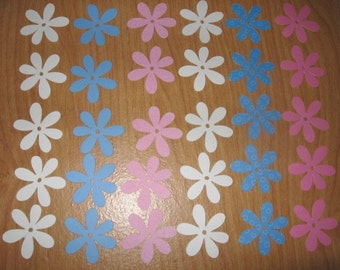 60 piece flower diecuts, 1 1/2 inches, your color choice