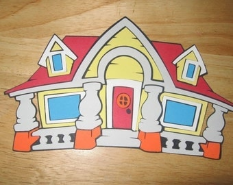 Mickey Mouse House diecut-cricut