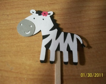 Zebra cupcake toppers -set of 12