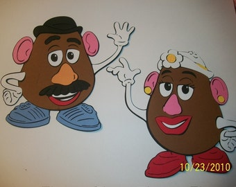 Mr and Mrs Potato Head die cuts- toy story