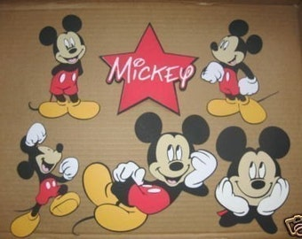 5 Mickey Mouse  and 1 Star title-cricut