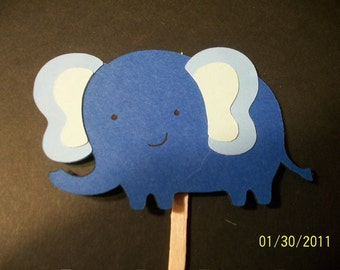 elephant cupcake toppers- set of 12