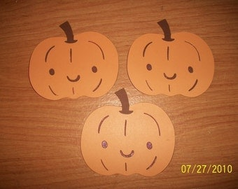 lot of 3 pumpkin diecuts