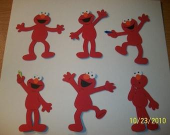 Elmo die cuts- set of 6