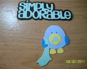 Baby Boy Birdie with blankey and simply adorable title