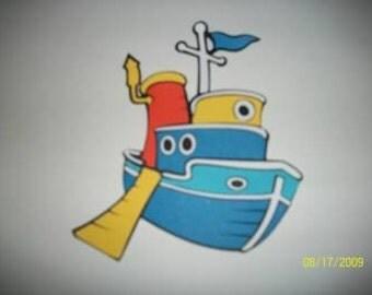 Donald Ducks boat die cut