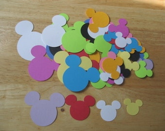 LOT oF 60 MICKEY HEAD sHAPES aSSORTED cOLORS aVAILABLE