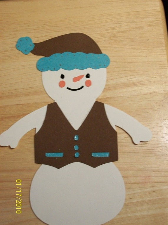 snowman diecut-E