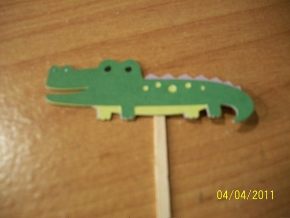 Alligator cupcake toppers- set of 36