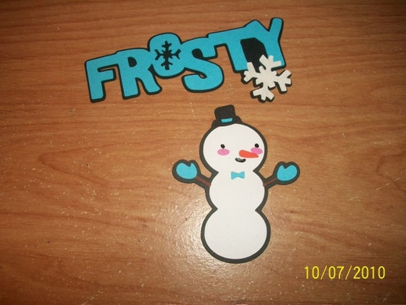 Frosty Title and snowman die cuts