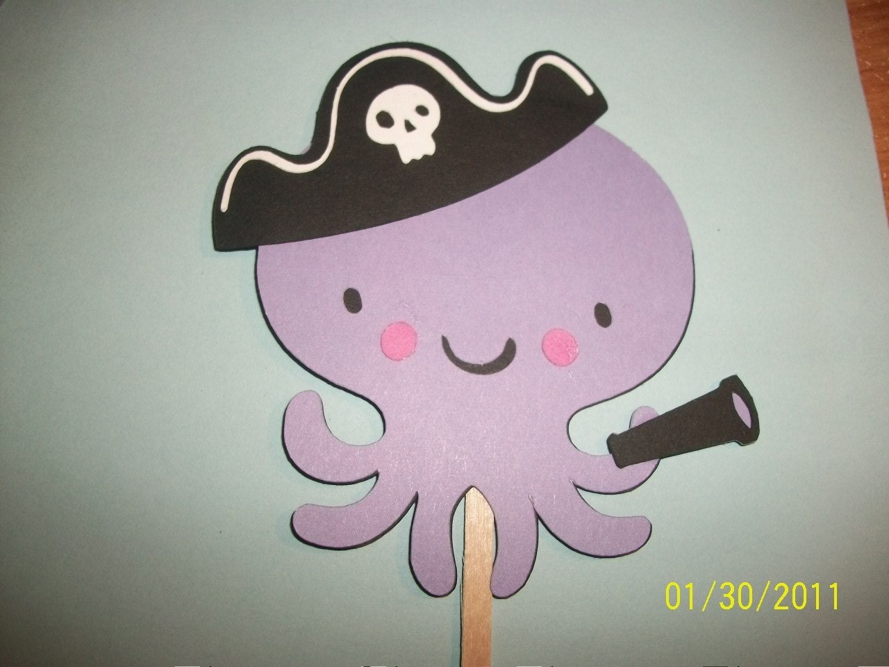 Goofy Hat Printable Octopus with pirate hat