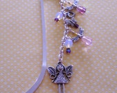 Butterfly Fairy Girl - Silverplated Bookmark