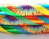 Custom One-Of-A-Kind Tie Dyed Collapsible Dance & Exercise Hoop 'THE HaPpY HiPpiE' - Choose Your Colors, Tubing and Size!