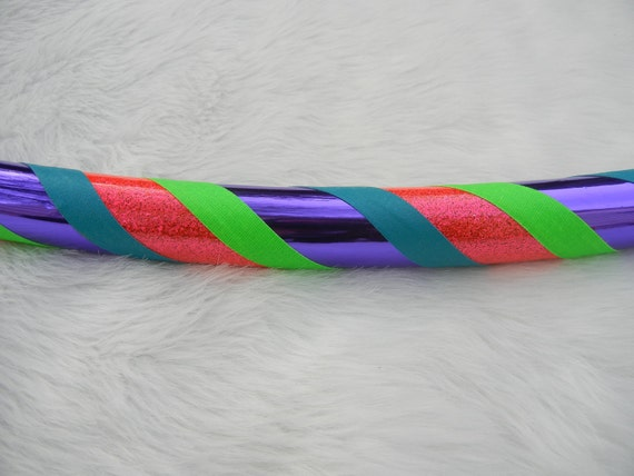 Custom Travel Hula HOOP - 'The CoLoR LoVeR' - UV/Blacklight Reactive. Over 7,000 Hoops Sold.
