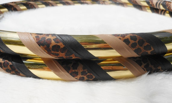 Custom Travel Hula Hoop - 'Leopard Love' - Fully Customizable & Made YOUR Way. Pro Hoops at Great Prices.