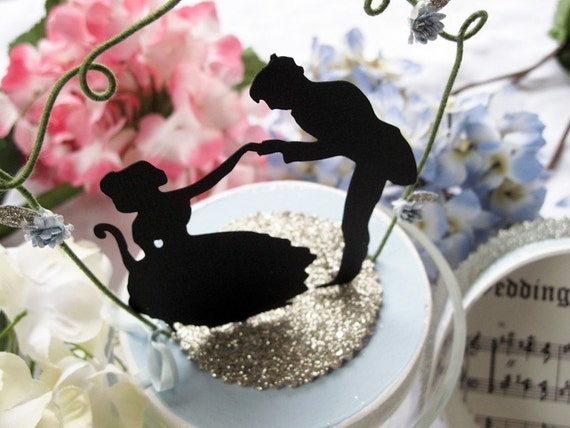 Just for Fun Silhouette Wedding Topper for Lizette