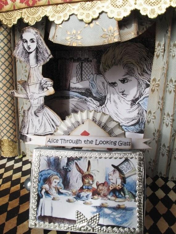 Through the Looking Glass Alice in Wonderland mini theatre