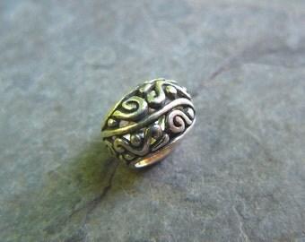Sterling Silver Large Hole Bali Filigree Bead