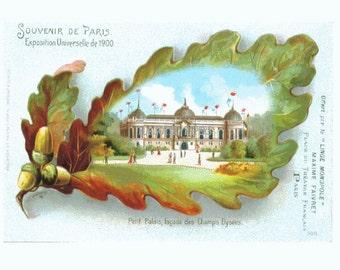 Souvenir de Paris - 1900 Exposition - Rare VINTAGE Postcard