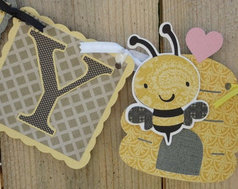 Honey Bee Birthday Banner - Bee Themed Party Supplies/Decor - Made to order