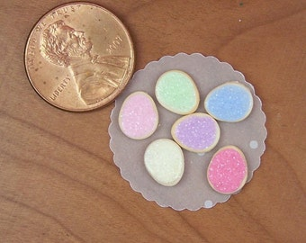 Dollhouse Miniature 6 Loose Easter Egg Sugar Cookies