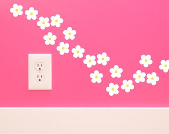 Daisy wall decals girl wall decals Baby Girl Nursery daisy