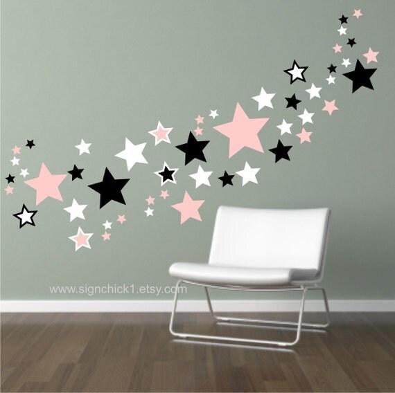 stars wall decals dorm room decor set of 150 matte finish vinyl star decals for walls - Star Wall Decor