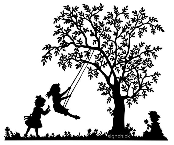 Tree Swing with little...