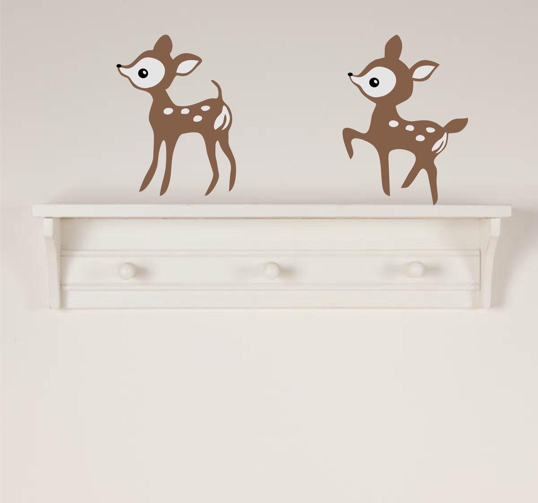 Baby deer wall decals for Deer mural decal