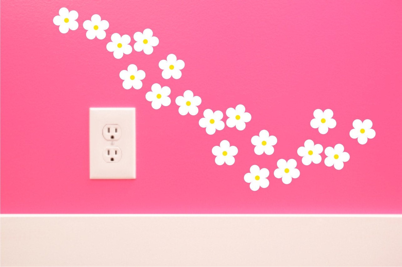 Daisy Wall Decals flower wall decals nursery room decals