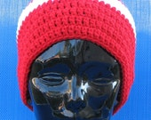 Canadian Olympic Hat Hand Crocheted Red and White