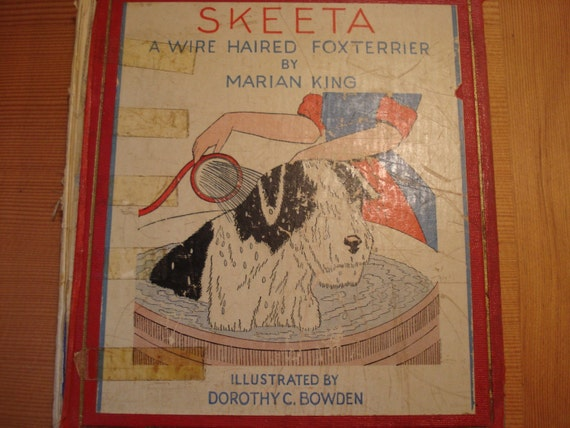 Vintage Book SKEETA A WIRE HAIRED FOXTERRIER 1933 1st edition