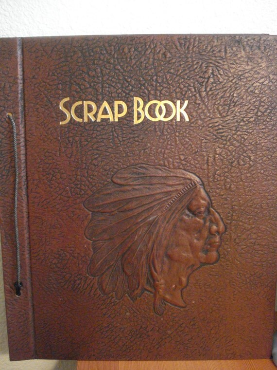 Vintage Scrapbook Cover ~ Vintage western theme indian scrapbook cover and back a few