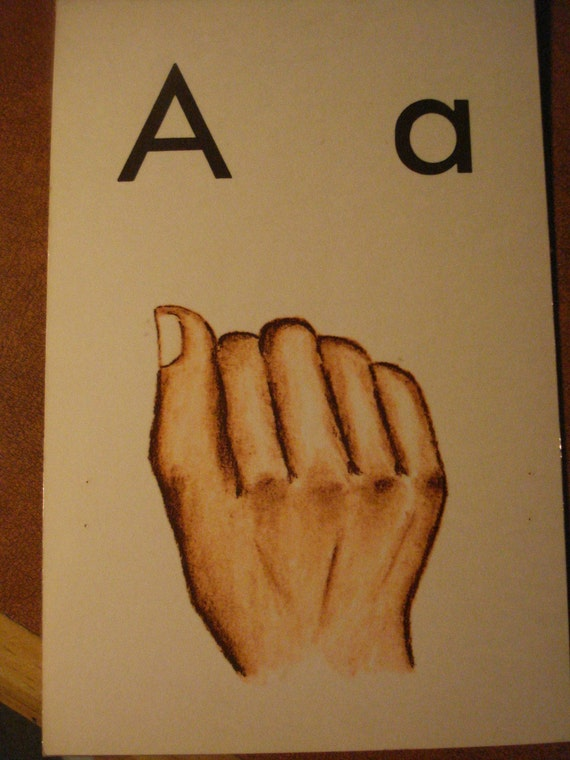 Vintage Flash Cards Sign Language Circa 1969 Letters Numbers Colors Days of the Week Family Members